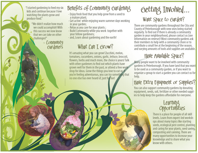 Peterborough Community Garden Network Brochure Interior