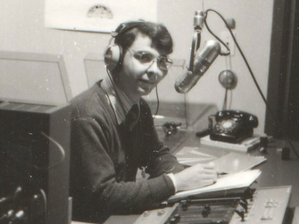 Trent Radio General Manager John Muir leads a team of mentors that help shape todays burgeoning media stars.  Here he is in his earliest days at the station.